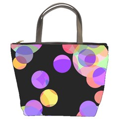 Colorful decorative circles Bucket Bags