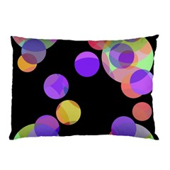 Colorful decorative circles Pillow Case