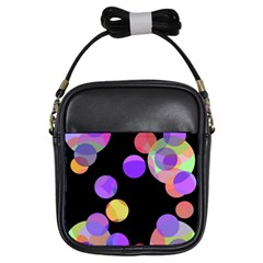 Colorful decorative circles Girls Sling Bags