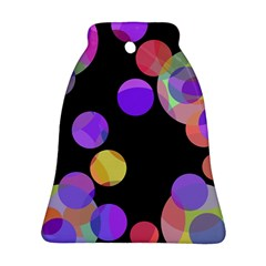 Colorful decorative circles Bell Ornament (2 Sides)