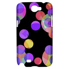 Colorful decorative circles Samsung Galaxy Note 2 Hardshell Case