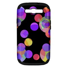 Colorful Decorative Circles Samsung Galaxy S Iii Hardshell Case (pc+silicone)