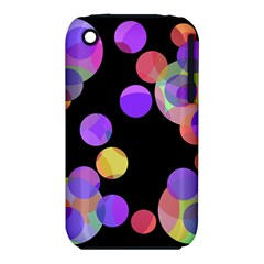 Colorful Decorative Circles Apple Iphone 3g/3gs Hardshell Case (pc+silicone)
