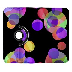 Colorful decorative circles Samsung Galaxy Note II Flip 360 Case