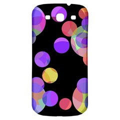 Colorful decorative circles Samsung Galaxy S3 S III Classic Hardshell Back Case