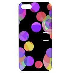 Colorful decorative circles Apple iPhone 5 Hardshell Case with Stand