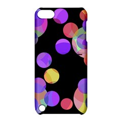 Colorful decorative circles Apple iPod Touch 5 Hardshell Case with Stand