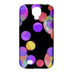 Colorful decorative circles Samsung Galaxy S4 Classic Hardshell Case (PC+Silicone)