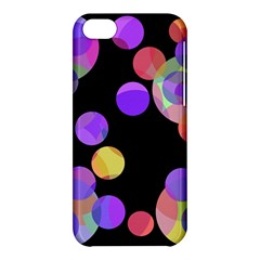 Colorful decorative circles Apple iPhone 5C Hardshell Case