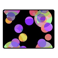 Colorful decorative circles Double Sided Fleece Blanket (Small)