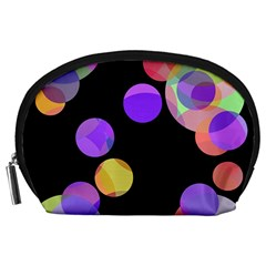 Colorful decorative circles Accessory Pouches (Large)