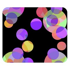 Colorful decorative circles Double Sided Flano Blanket (Small)