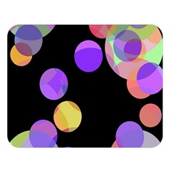 Colorful decorative circles Double Sided Flano Blanket (Large)