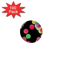 Colorful decorative circles 1  Mini Buttons (100 pack)