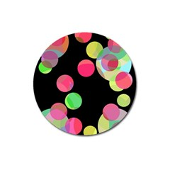 Colorful decorative circles Magnet 3  (Round)