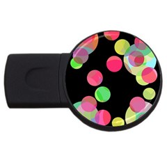 Colorful decorative circles USB Flash Drive Round (2 GB)