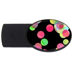 Colorful decorative circles USB Flash Drive Oval (2 GB)