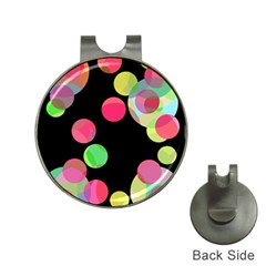 Colorful decorative circles Hat Clips with Golf Markers