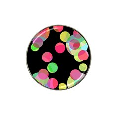 Colorful decorative circles Hat Clip Ball Marker (4 pack)