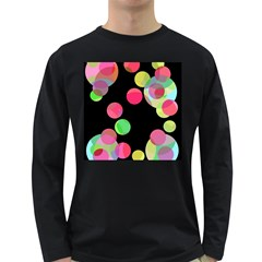 Colorful decorative circles Long Sleeve Dark T-Shirts