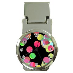 Colorful decorative circles Money Clip Watches