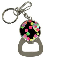 Colorful decorative circles Bottle Opener Key Chains