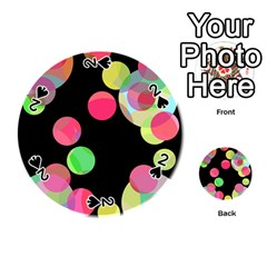 Colorful decorative circles Playing Cards 54 (Round)