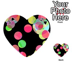 Colorful decorative circles Playing Cards 54 (Heart)
