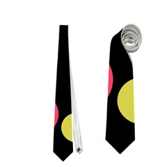Colorful decorative circles Neckties (One Side)