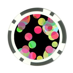 Colorful Decorative Circles Poker Chip Card Guards