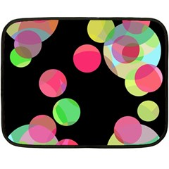 Colorful decorative circles Fleece Blanket (Mini)