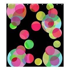 Colorful decorative circles Shower Curtain 66  x 72  (Large)