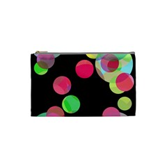 Colorful decorative circles Cosmetic Bag (Small)