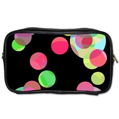 Colorful decorative circles Toiletries Bags 2-Side