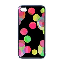 Colorful decorative circles Apple iPhone 4 Case (Black)