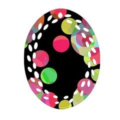 Colorful decorative circles Ornament (Oval Filigree)