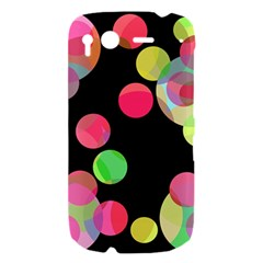 Colorful decorative circles HTC Desire S Hardshell Case