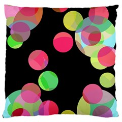 Colorful decorative circles Large Cushion Case (Two Sides)