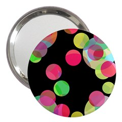 Colorful decorative circles 3  Handbag Mirrors