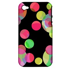 Colorful decorative circles Apple iPhone 4/4S Hardshell Case (PC+Silicone)
