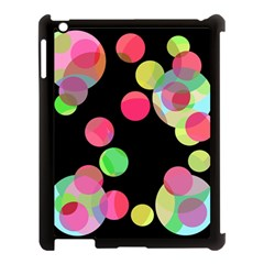 Colorful decorative circles Apple iPad 3/4 Case (Black)