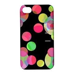 Colorful decorative circles Apple iPhone 4/4S Hardshell Case with Stand
