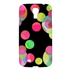 Colorful decorative circles Samsung Galaxy S4 I9500/I9505 Hardshell Case