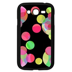 Colorful decorative circles Samsung Galaxy Grand DUOS I9082 Case (Black)