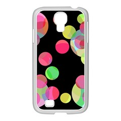 Colorful decorative circles Samsung GALAXY S4 I9500/ I9505 Case (White)
