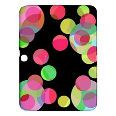 Colorful decorative circles Samsung Galaxy Tab 3 (10.1 ) P5200 Hardshell Case