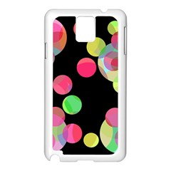 Colorful decorative circles Samsung Galaxy Note 3 N9005 Case (White)