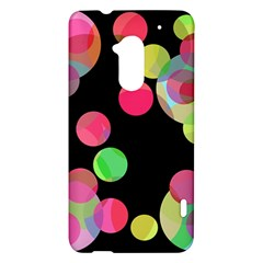 Colorful decorative circles HTC One Max (T6) Hardshell Case