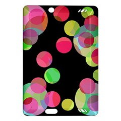 Colorful decorative circles Amazon Kindle Fire HD (2013) Hardshell Case