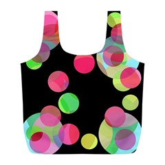 Colorful decorative circles Full Print Recycle Bags (L)